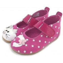 Living Kitzbühel 2501 Stars & Kitten Mädchen Hausschuhe pink (bubblegum)