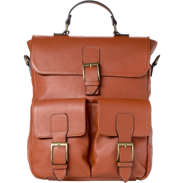 Ellamar Back Bag Damen Leder-Rucksack cognac