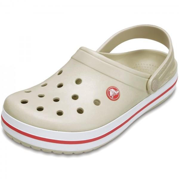 Crocs Crocband Damen Clogs beige/rot (stucco/melon)
