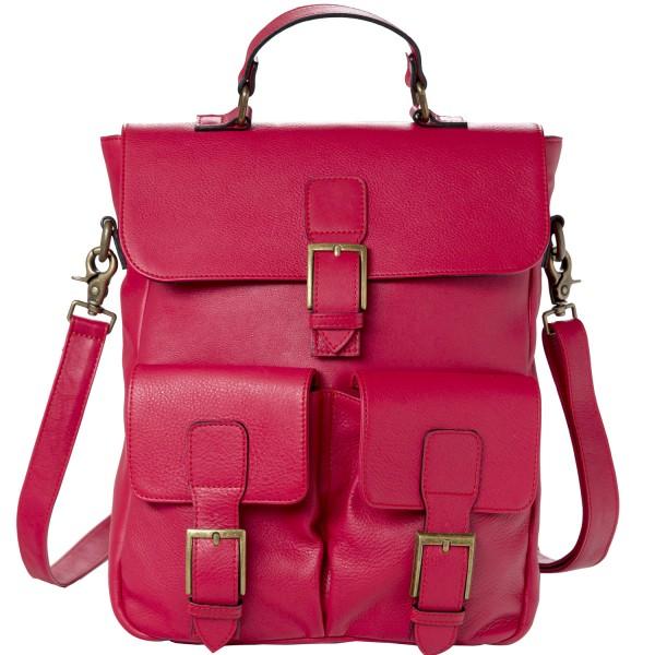 Ellamar Back Bag Damen Leder-Rucksack rot (red)