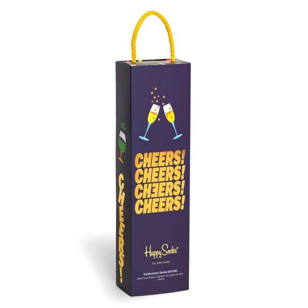 Happy Socks Celebration Gift Box 3-Pack Unisex Geschenks-Socken Mehrfarbig
