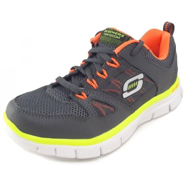 Details zu NEU SKECHERS Jungen Sneakers HYPERJOLT 2.0 Grau Trainingsschuh Sportschuh