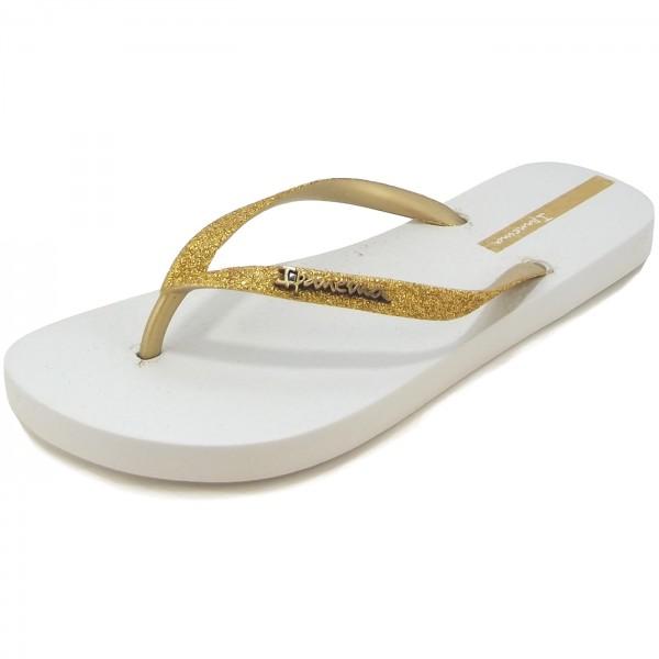 ipanema lolita iii fem women flip flops white gold ipanema brands flux online. Black Bedroom Furniture Sets. Home Design Ideas