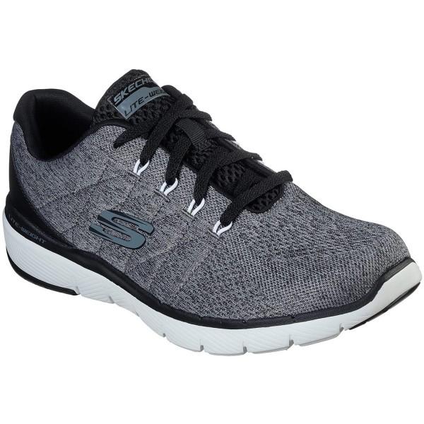 Skechers Flex Advantage 3.0 Stally Herren Komfort-Sneaker grau/schwarz (charcoal/black)