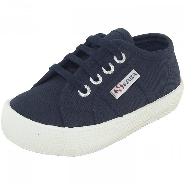 Superga 2750 CotBumpJ Kleinkinder Sneaker dunkelblau (navy/fwhite)