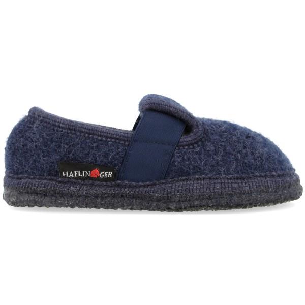 Haflinger Slipper Joschi Kinder Hausschuhe Dunkelblau (Jeans)