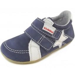 Living Kitzbühel 2511 Leder Kinder Hausschuh-Sneaker dunkelblau/grau (marine)