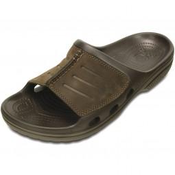 Crocs Yukon Mesa Slide Herren Pantolette braun (espresso/espresso)
