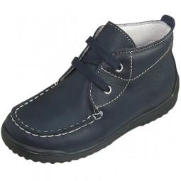 Naturino 4108 Kinder Schnürschuhe glatt dunkelblau