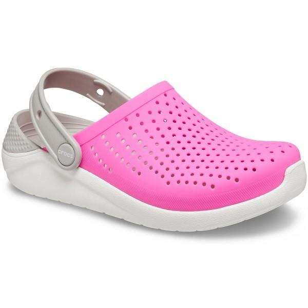 Crocs Literide Kids Kinder Soft Clogs pink/weiß (electric pink/white)
