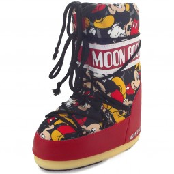 Moon Boot Jr Mickey Kinder Moonboots rot/schwarz (rosso/nero)