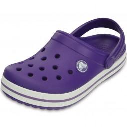 Crocs Crocband Kids Kinder Clogs violett (ultraviolet/white)