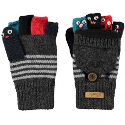 Barts Puppet Bumgloves Kinder Fingerlos-Handschuhe grau/mehrfarbig (dark heather)