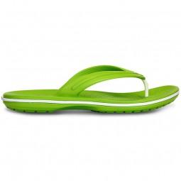 Crocs Crocband Flip Damen Zehenstegsandale volt green/white