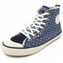 Pepe Jeans Industry Denim Girl Mädchen Winter-Sneaker blau (denim)