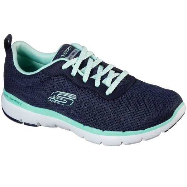 Skechers Flex Appeal 3.0 First Insight Damen Trainingssneaker Navy/Aqua