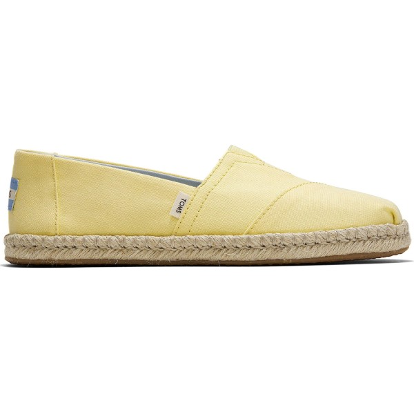 Toms Classic Canvas Rope Wm Damen Espadrilles hellgelb (plant dyed yellow)