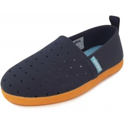 Native Shoes Venice Child Kinder Slipper dunkelblau (regatta blue/begonia orange)