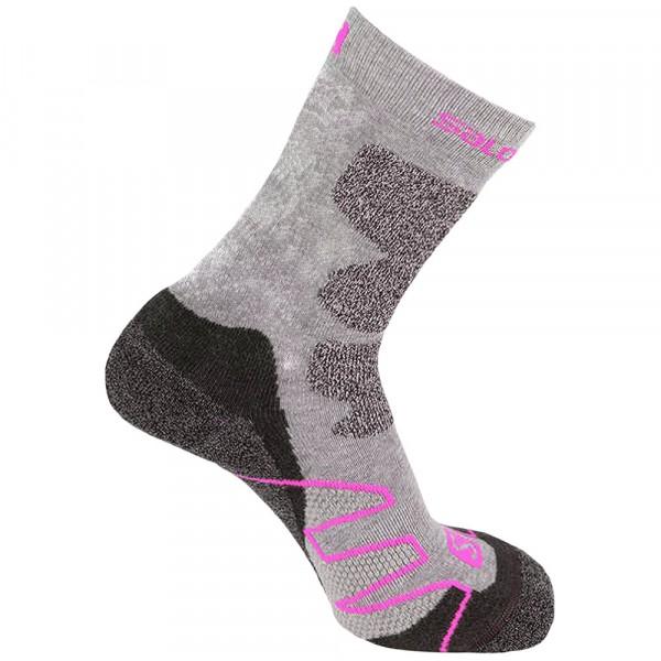 Salomon Performance Pro Jr Mädchen Outdoor Socken grey/pink
