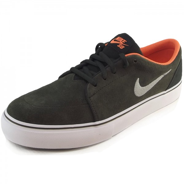 Nike Satire Skate-Sneaker dunkeloliv (sequoia/orange)