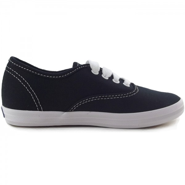 Keds Champion Canvas Girls Sneaker schwarz/weiß (black/white) 3