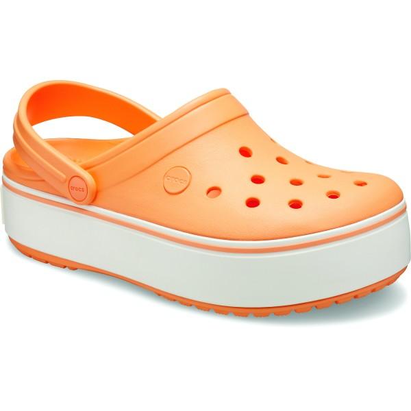Crocs Crocband Platform Damen Clogs cantaloupe/white