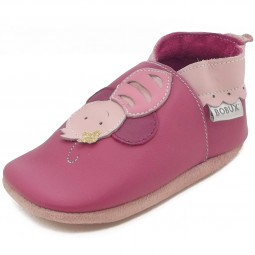 Bobux Bee Baby Krabbelschuhe pink (bright pink)