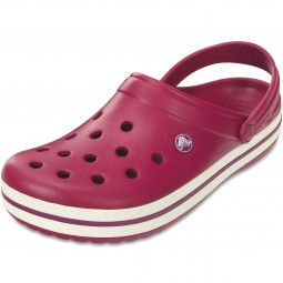 Crocs Crocband Damen Clogs pomegranate/white