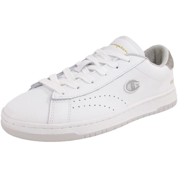 Champion Court Club Patch Damen Vintage Sneaker weiß (wht/sil)