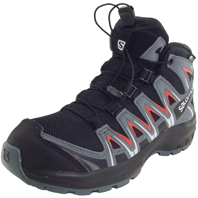 Salomon XA Pro 3D Mid CSWP J Child Running Shoes blackstormy weathercherry tomato