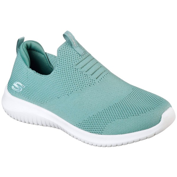 Skechers Ultra Flex First Take Damen Komfort-Sneaker türkis/weiß (sage)