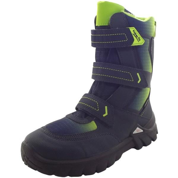 32ffc1a3f Superfit Gore-Tex Pollux Boy Winter Boots dark blue/lime (blau/gruen)