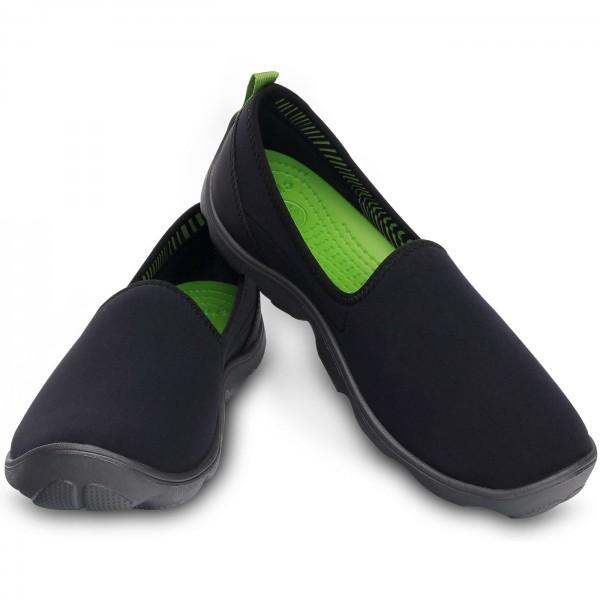 crocs duet busy day skimmer women slip on shoes black graphite crocs brands flux online. Black Bedroom Furniture Sets. Home Design Ideas