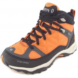Viking Gore-Tex Ascent Jr GTX Kinder Hiking-Schuhe orange/schwarz (rust/blk)