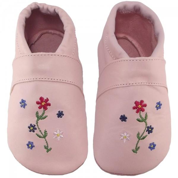 Anna und Paul Hippie Baby Krabbelschuhe rose 2