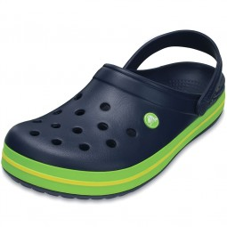 Crocs Crocband Unisex Clogs dunkelblau/grün (navy/volt green/lemon)