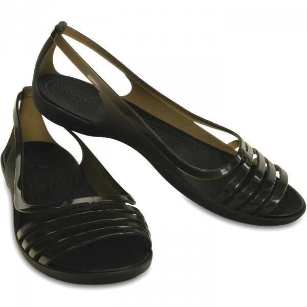 Crocs Isabella Huarache Flat Damen Riemensandalen schwarz (black) 2