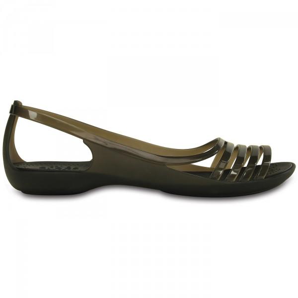 Crocs Isabella Huarache Flat Damen Riemensandalen schwarz (black) 3