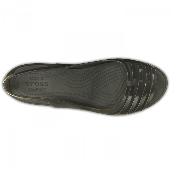 Crocs Isabella Huarache Flat Damen Riemensandalen schwarz (black) 4