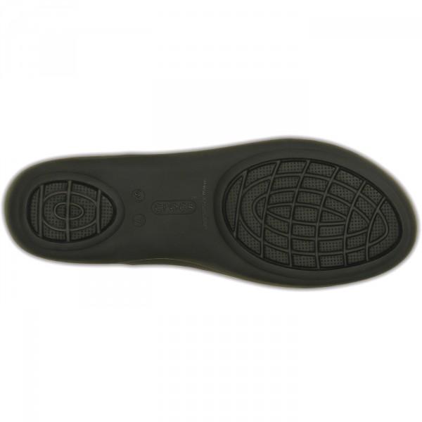 Crocs Isabella Huarache Flat Damen Riemensandalen schwarz (black) 5