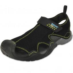 Crocs Swiftwater Sandal Herren Aqua-Schuhe schwarz/grau (black/charcoal)