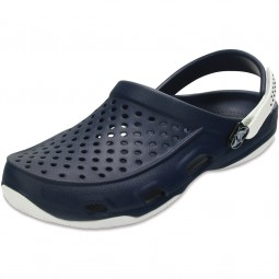 Crocs Swiftwater Deck Clog Herren Clogs dunkelblau (navy/white)