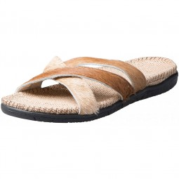 Fellhof Bull Flips Cross Damen Stierfell-Sandale variiert - jeder Schuh ein Unikat