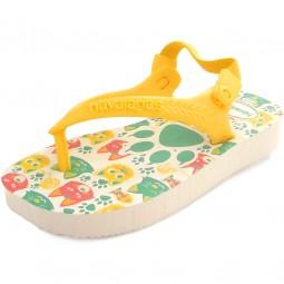 Havaianas Baby Pets Kleinkinder Zehenstegsandale weiß/gelb (white/yellow)