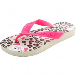 Havaianas Kids Top Marie Mädchen Zehenstegsandale white/shocking pink