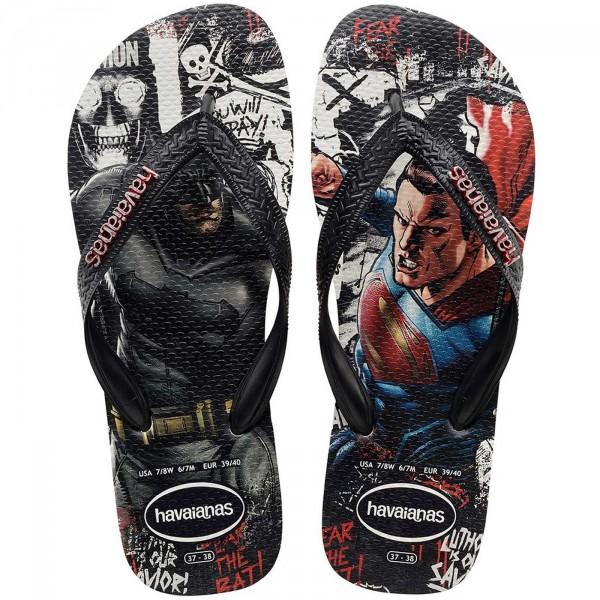 Havaianas Batman v Superman Herren Zehenstegsandale schwarz/wei