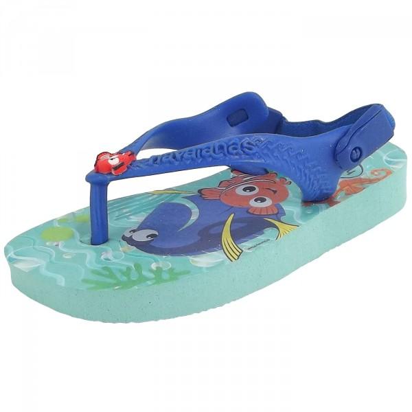Havaianas Baby Disney Cuties Kleinkinder Zehenstegsandale türkis (ice blue)