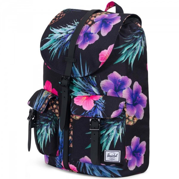 Herschel Dawson Backpack Damen Rucksack schwarz/floral (black/pineapple) 2