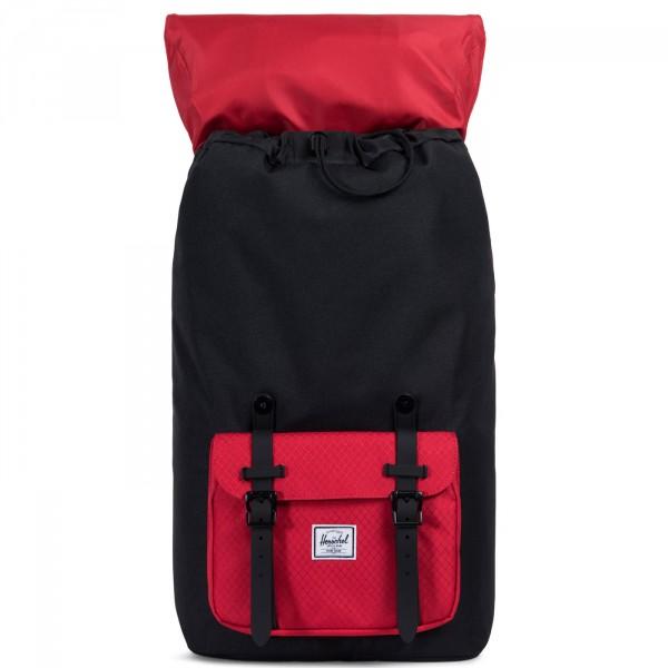 Herschel Little America Unisex Rucksack schwarz/rot (black/scarlet) 3