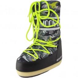 Moon Boot Jr T-Rex Kinder Moonboots schwarz/grün
